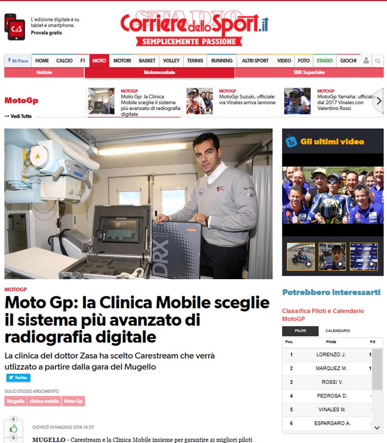 Corriere Dello Sport Calendario.Clinica Mobile Corriere Dello Sport Moto Gp La Clinica